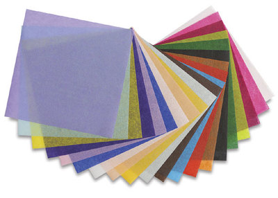 Assortment of colored tissues