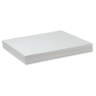 "12"" x 18"" white sulphite construction paper"