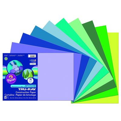 Cool colors sulphite construction paper for marbling
