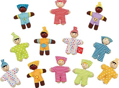 Hape cloth pocket dolls