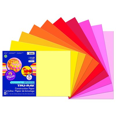 Warm colors sulphite construction paper for marbling