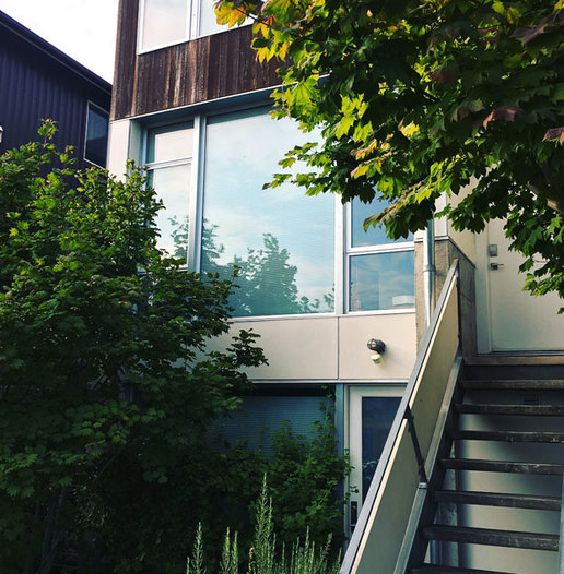 Designer townhouse architecture in Seattle