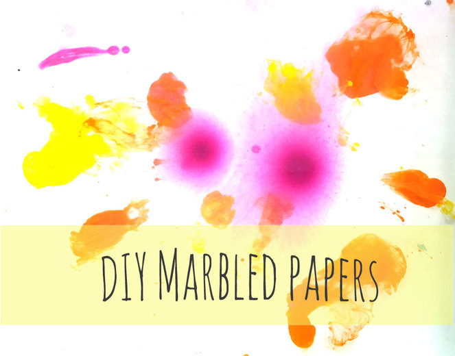 How to create marbled papers