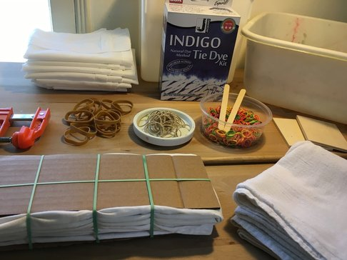 Shibori prep and supplies