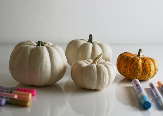 Pumpkin decorating with paint pens, carve-free tutorial