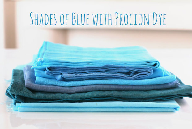 Shades of blue with Procion Dye