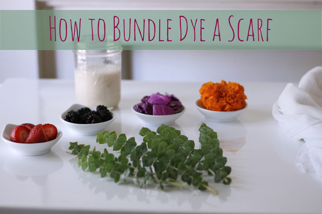 How to natural bundle dye with plants