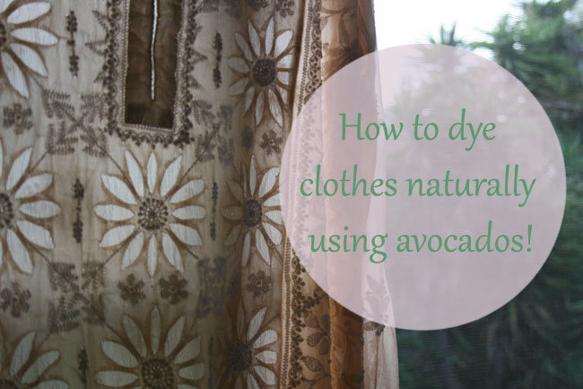 How to Use Avocado Pits as Natural Dye
