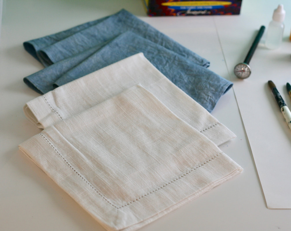 Cloth napkins for marbling