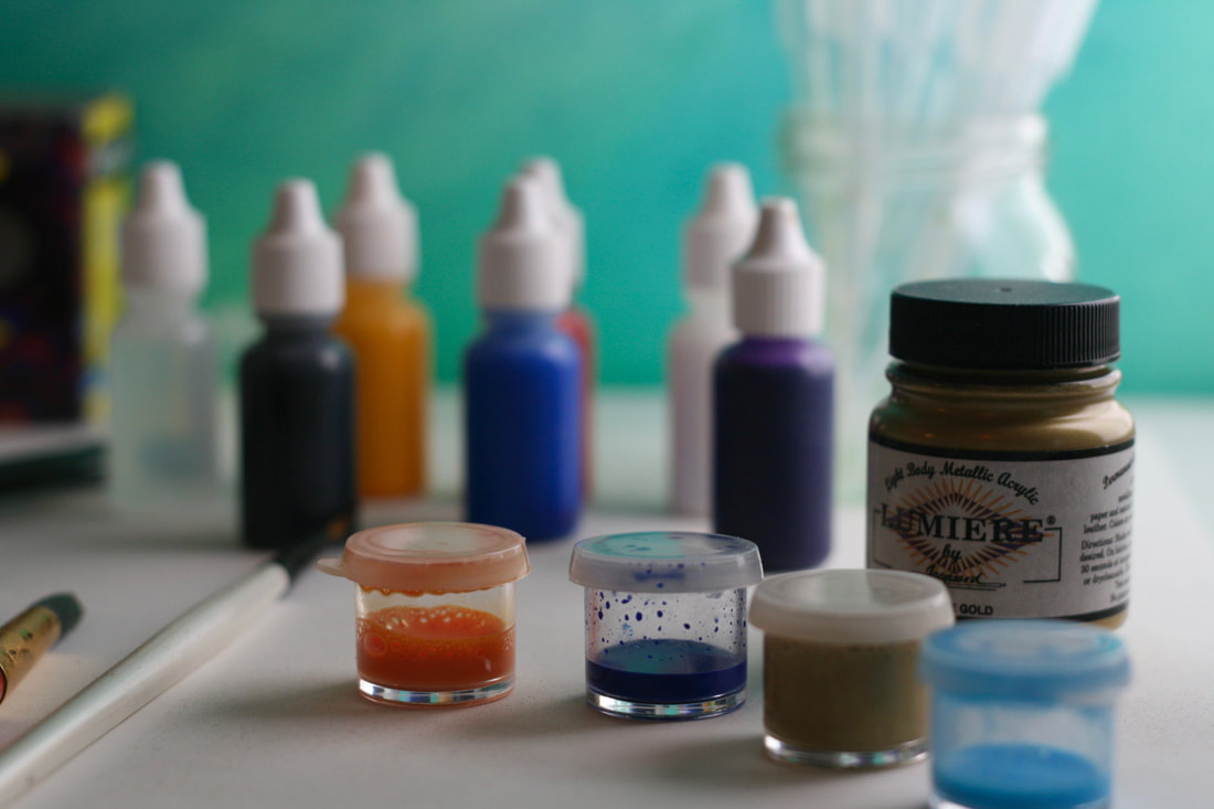 Textile paints for marbling