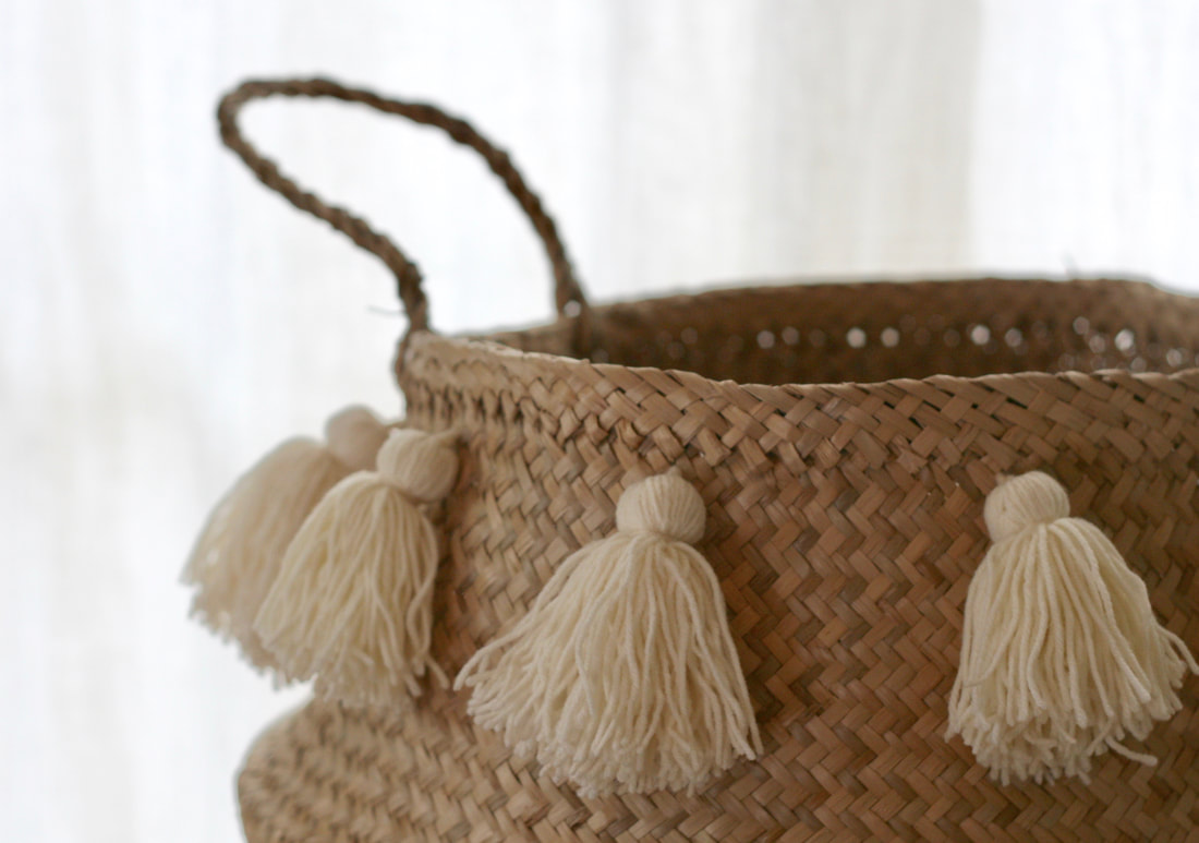 Basket tassel tutorial