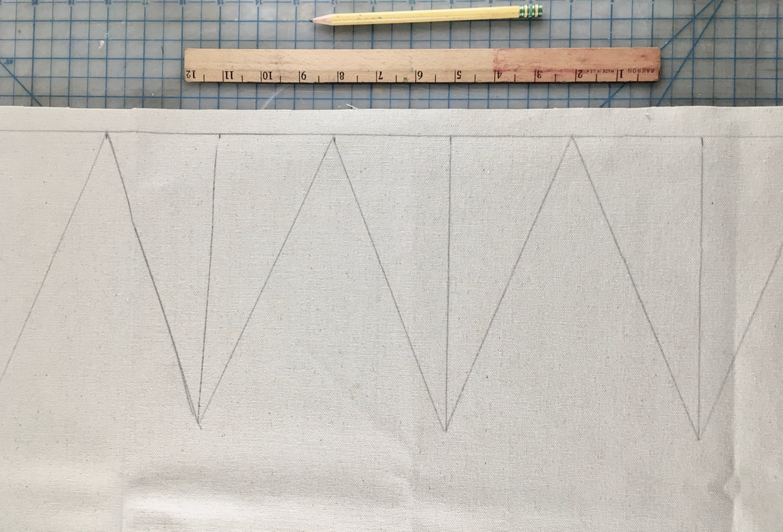 Planning out pendant triangles for garland
