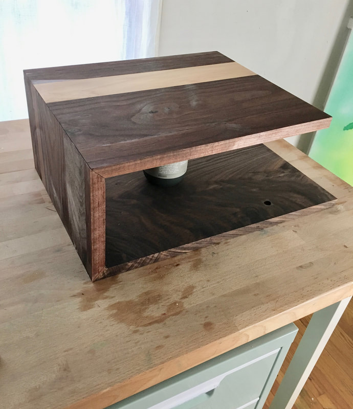 Walnut nightstand DIY