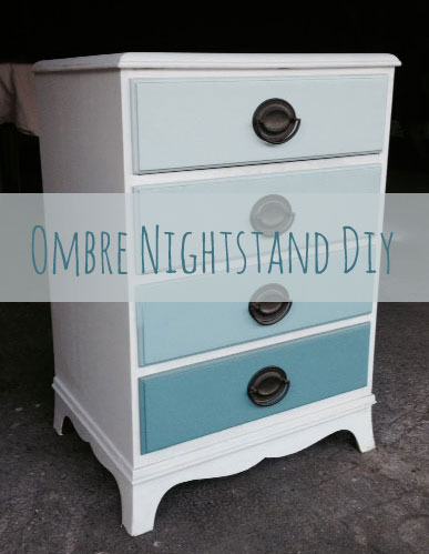 Ombre Nightstand DIY in Blue Lagoon paint