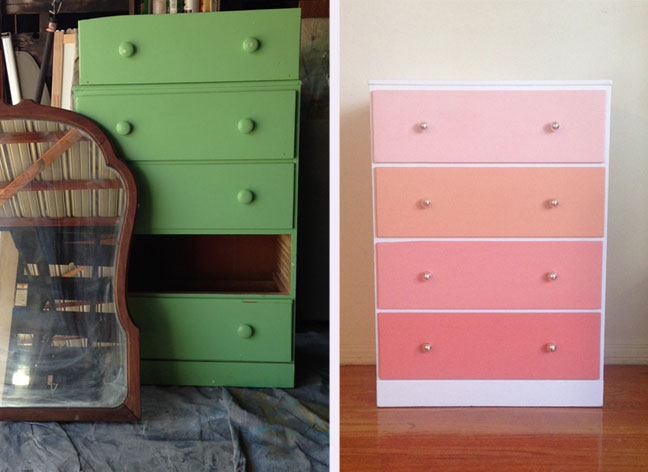 Ombre Dresser Before and After