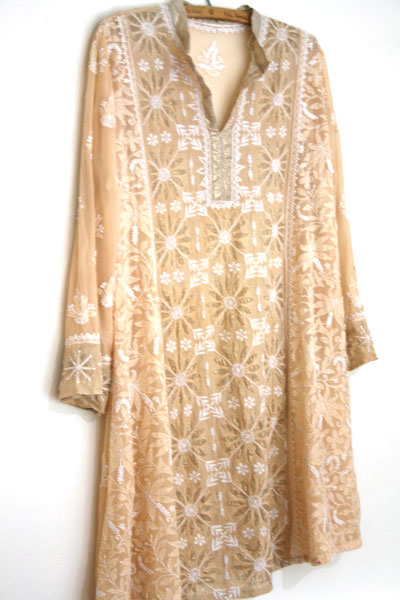 Indian kurta dyed light pink