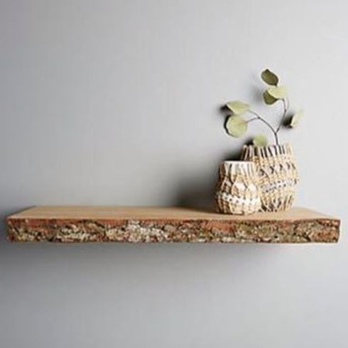 Raw edge floating shelf