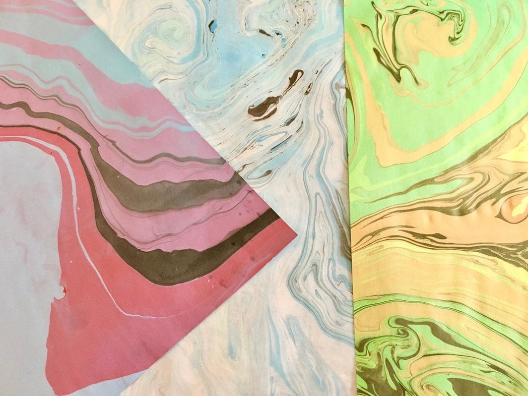 Marbled Art Prints on Paper