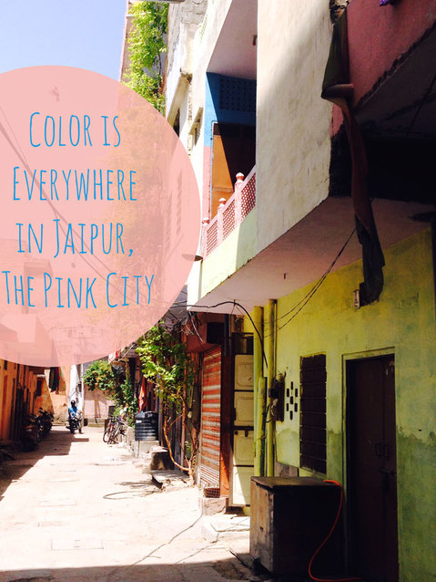 Colorful alley in the Pink City, Jaipur
